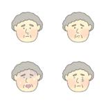色々な健康状態のおばあさんのイラスト