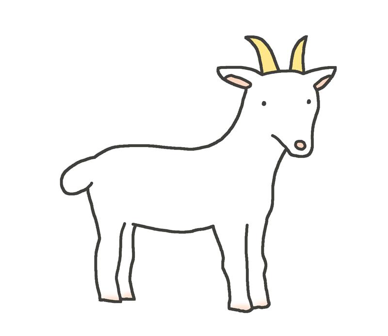 ヤギのイラスト