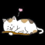 マタタビと猫のイラスト