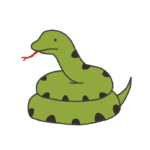 とぐろを巻いた蛇のイラスト