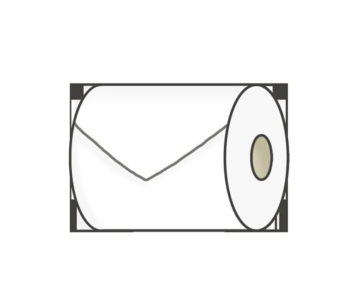 トイレットペーパーのイラスト(三角折り)