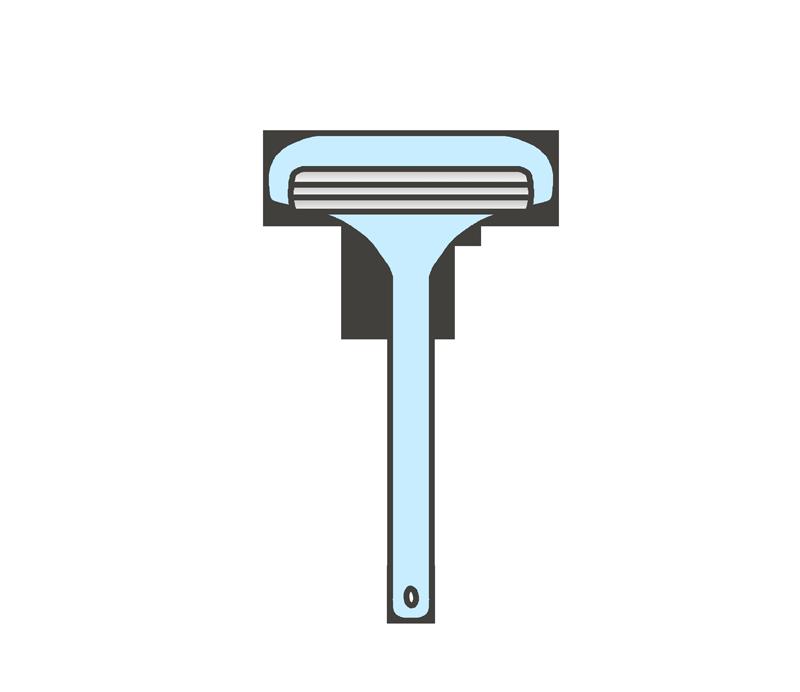 T字剃刀のイラスト