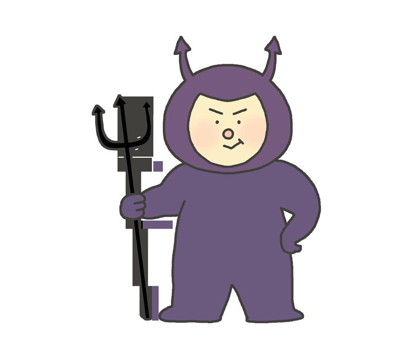 バイキンのキャラクターイラスト