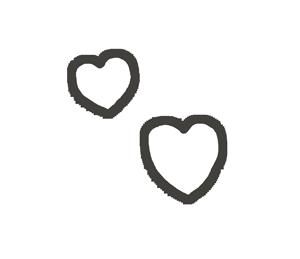 ハートマーク(複数)の漫符