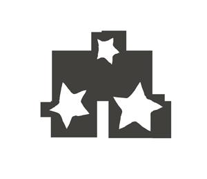 星マーク(複数)の漫符