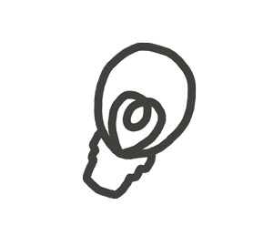 ひらめき・電球マークの漫符