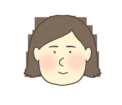 セミロングの女の子のイラスト