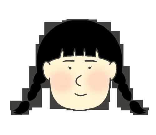 三つ編みの女の子のイラスト