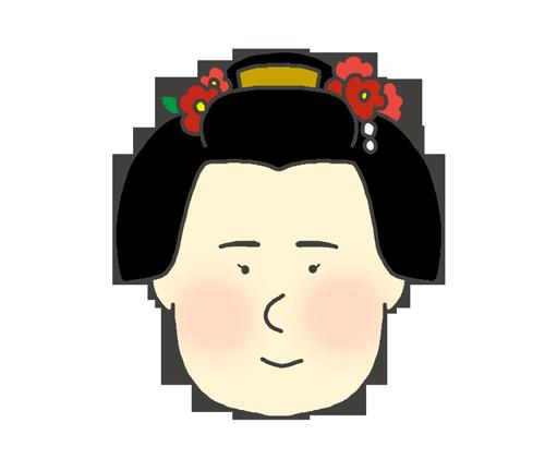日本髪を結った女の子のイラスト