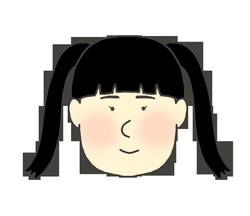 ツインテールの女の子のイラスト