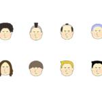 色々な髪型の男の子のアイコンイラスト