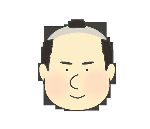 ちょんまげの男性のアイコンイラスト