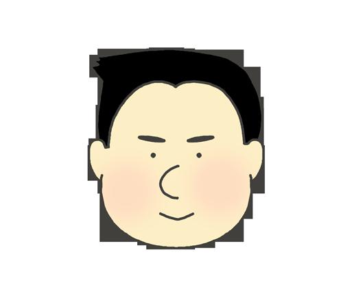 黒髪の男の子のアイコンイラスト