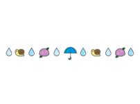 梅雨の飾り線のイラスト