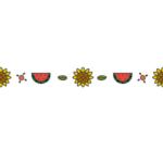 夏の飾り線のイラスト