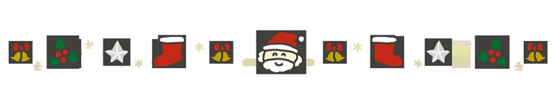 クリスマスの飾り線のイラスト