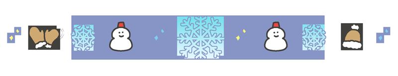 冬の飾り線のイラスト