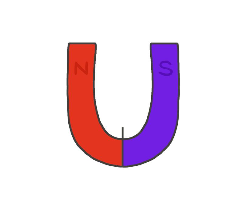 U字磁石のイラスト
