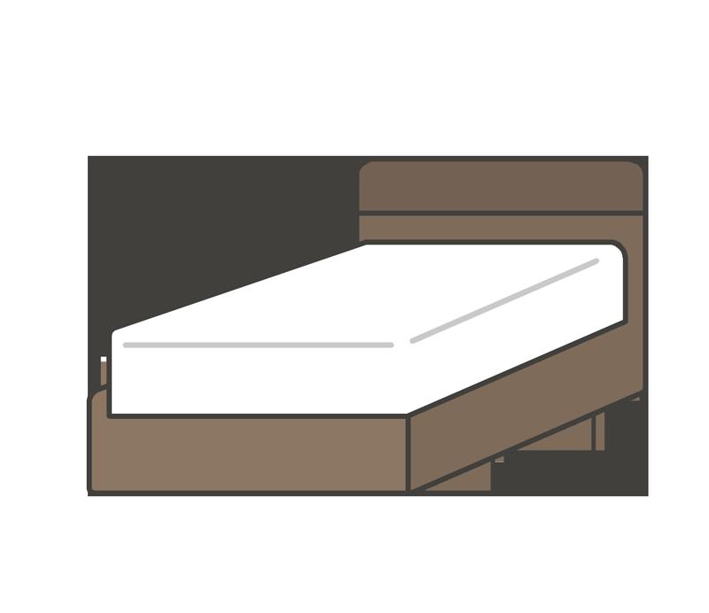 ベッド/ベットのイラスト