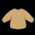 毛玉のできた服のイラスト
