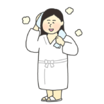 お風呂上りの女性のイラスト