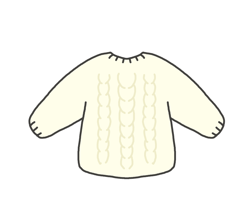 ニットのセーターのイラスト
