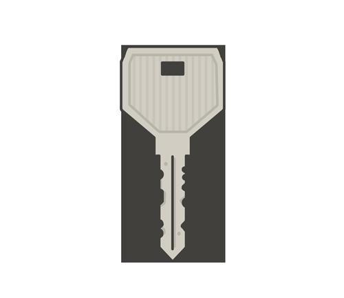 普通の鍵のイラスト