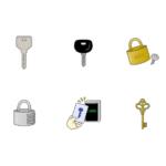 色々な鍵のイラスト