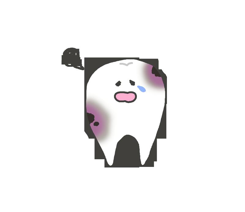 虫歯のキャラクターイラスト