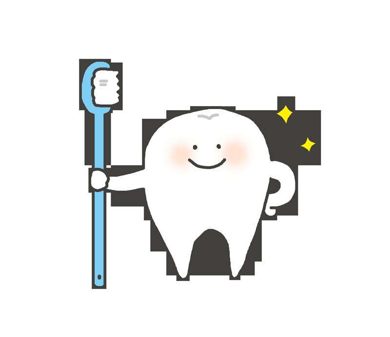 歯ブラシを持った歯磨きのキャラクター