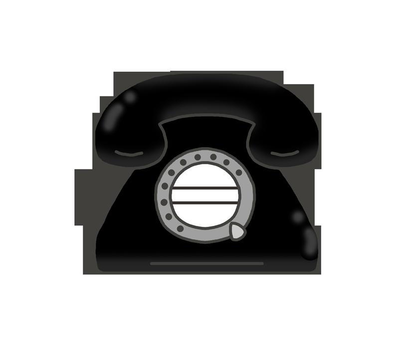 黒電話のイラスト