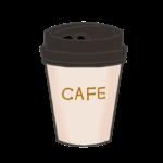 テイクアウト用コーヒーカップのイラスト