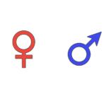 性別記号・男女マークのイラスト