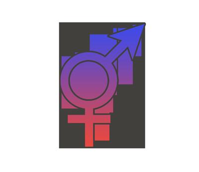 トランスジェンダー等の性別記号のイラスト
