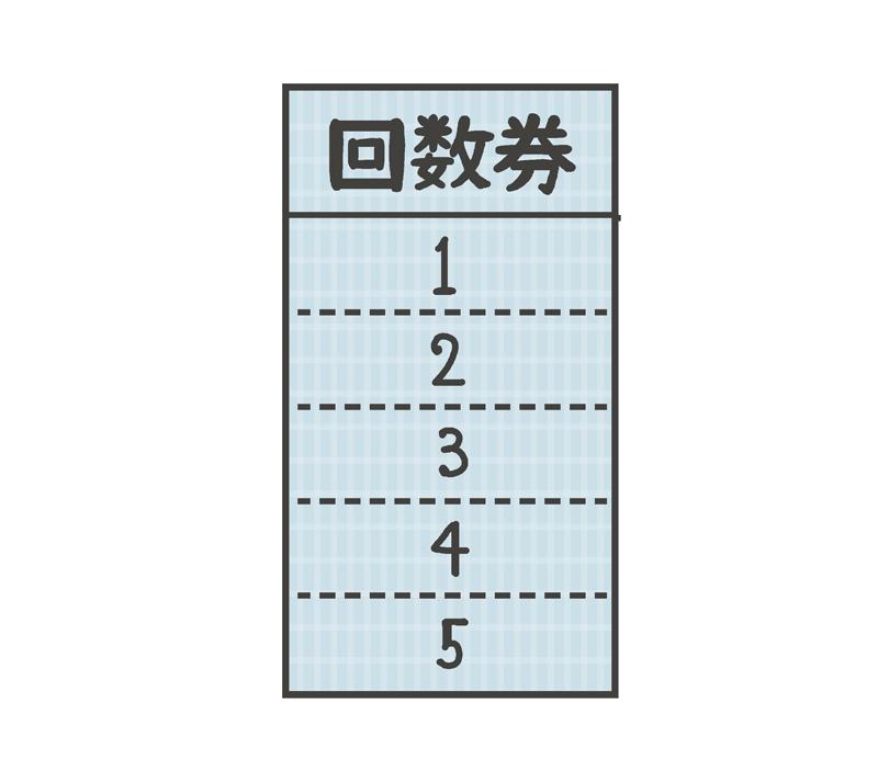 回数券のイラスト
