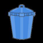 バケツ型ゴミ箱のイラスト
