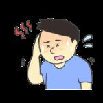 熱中症のイラスト(男性)