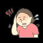 熱中症のイラスト(女性)