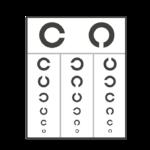 視力検査表のイラスト(ランドルト環)