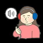 聴力検査のイラスト(女性)