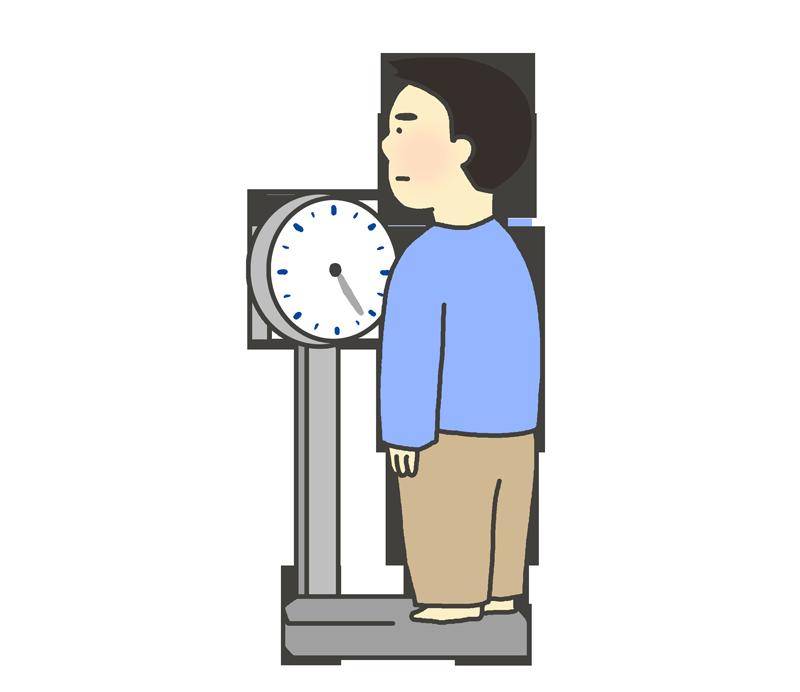 体重測定のイラスト(男性)