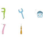 色々な歯間クリーナーのイラスト