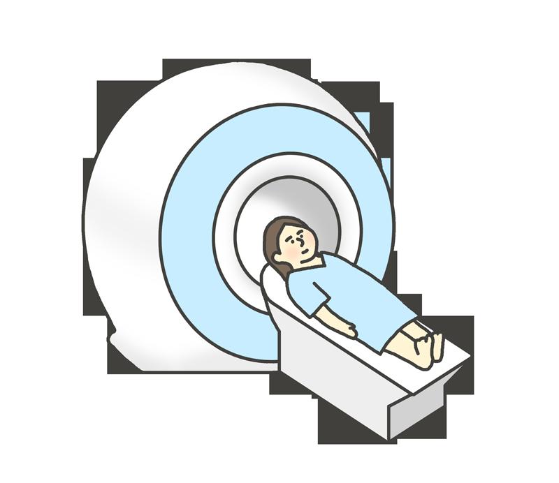 CT・MRI検査のイラスト(女性)