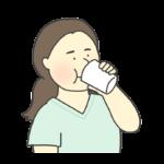 バリウムを飲む女性のイラスト