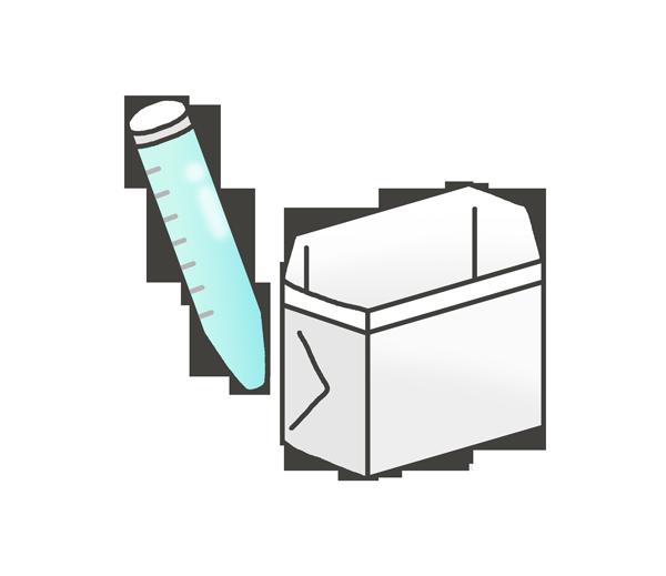 検尿キットのイラスト