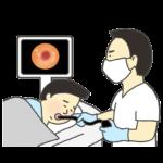 内視鏡・胃カメラ検査のイラスト