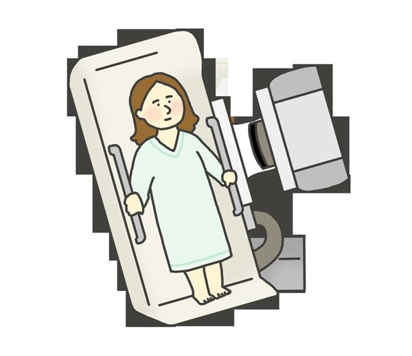 バリウム検査のイラスト(女性)