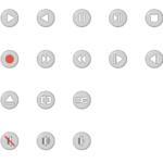 色々な再生機器ボタンのイラスト