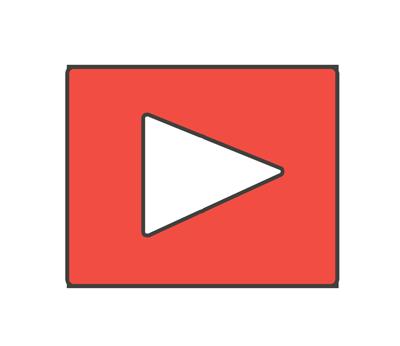 YouTube風アイコンのイラスト