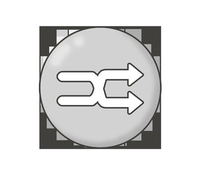 シャッフルボタンのイラスト